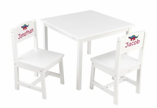 Kids Personalized Table and Chair Set in White, Aspen by KidKraft ...