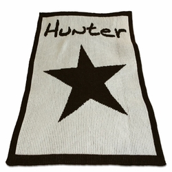 Personalized Blanket with Large Star