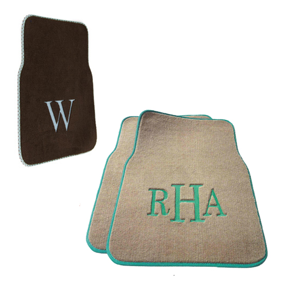 Personalized Car Mats, Monogrammed Car Mats, Custom Floor