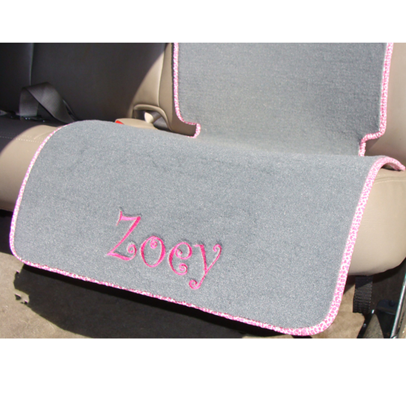 Monogrammed Car Seat Protector Mat Personalized Mats