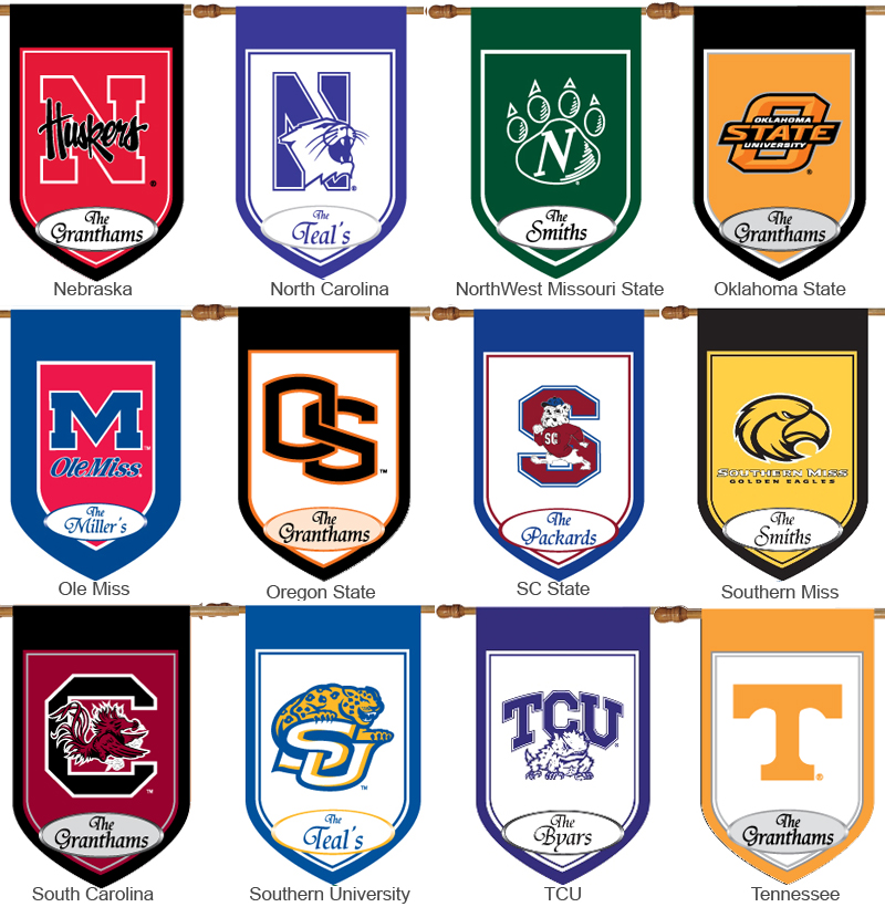 Personalized Collegiate House Flags Monogrammed College