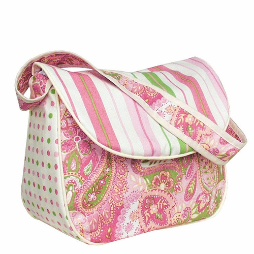 Personalized Paisley Messenger Diaper Bag