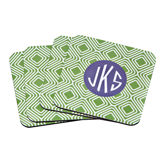 Monogrammed Paper Coaster Set By Clairebella