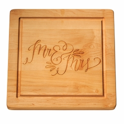 14 inch Square Monogrammed Cutting Board