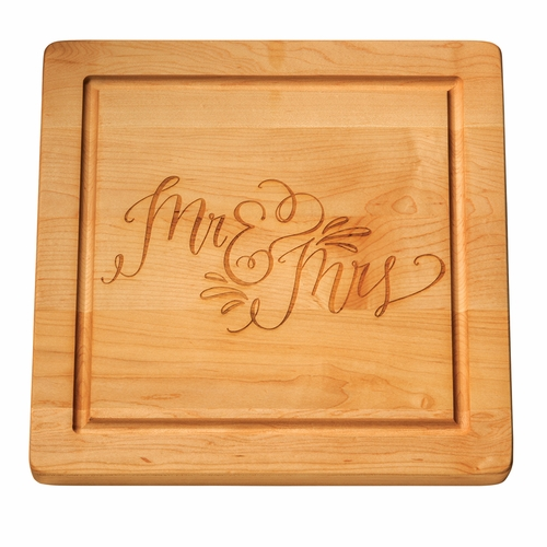 14 Inch Square Personalized Wood Cutting Board Monogrammed Boards Maple Leaf At Home