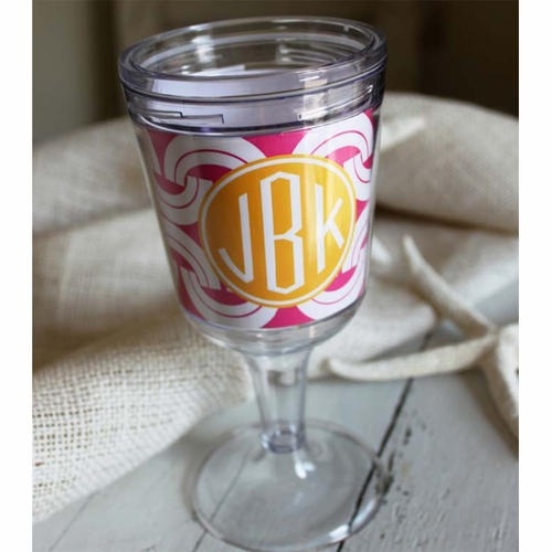Monogrammed Wine Tumbler By Clairebella