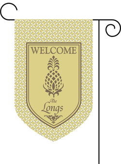 Pineapple Monogram Garden Flags