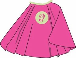 Pink and Green Kid's Personalized Cape