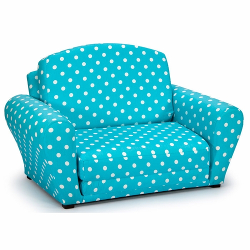 Polka Dot Y Blue Flip Open Sleepover Sofa