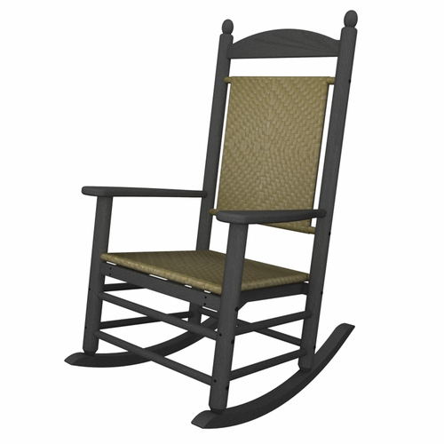 Outstanding Slate Grey Polywood Jefferson Woven Rocking Chair Ocoug Best Dining Table And Chair Ideas Images Ocougorg