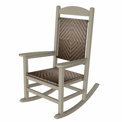 polywood sand presidential woven rocking chair outdoor rocking