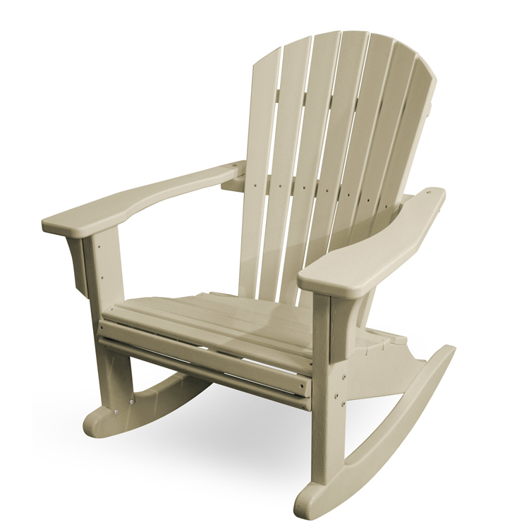 Polywood Seashell Rocking Chair Adirondack Rocking Chair
