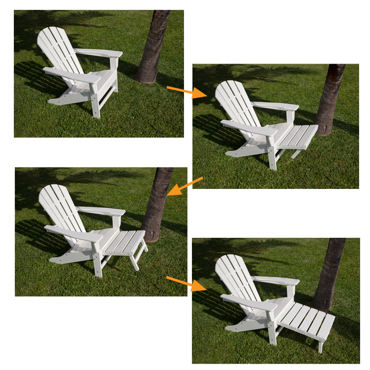 POLYWOOD® South Beach Ultimate Adirondack Chair With Hideaway Ottoman