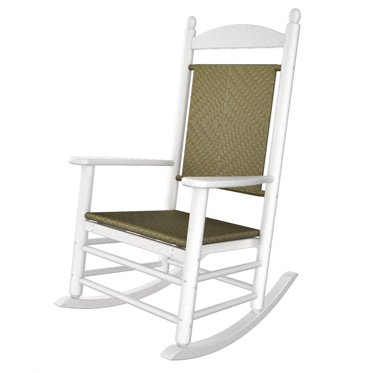 polywood white jefferson woven rocking chair outdoor rocking chair polywood rockers. Black Bedroom Furniture Sets. Home Design Ideas