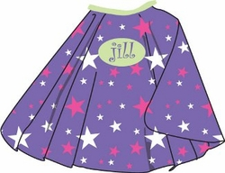 Purple Stars Kid's Cape