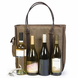 Quad Bottle Bag Wine Carrier