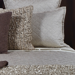 Raffia Pillow Sham in Taupe