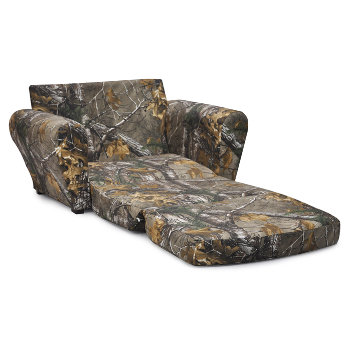 Marvelous Real Tree Xtra Camo Flip Open Sleepover Sofa