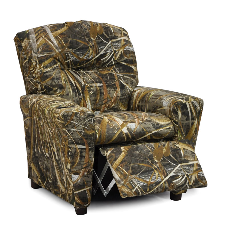 Camo Lounge Chair: Camouflage Recliner For Kids, Real Tree Max-5 Camo