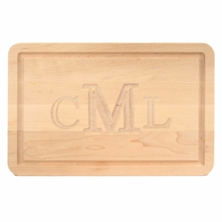 Rectangle Monogrammed Cutting Board