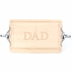 Rectangle Monogrammed Cutting Board With Longhorn Handles