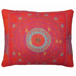 Red Abstract Outdoor Pillow