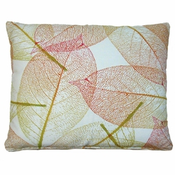 Red And Gold Fall Leave Outdoor Pillow