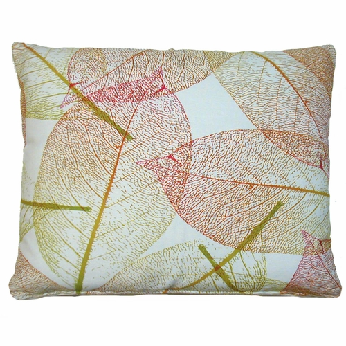 Red And Gold Fall Leave Outdoor Throw Pillow