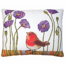 Red Bird Outdoor Pillow
