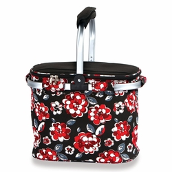 Red Carnation Collapsible Market Tote