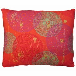 Red Circles Outdoor Pillow