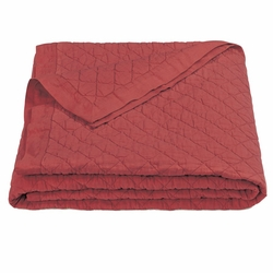 Red Diamond Linen Quilt