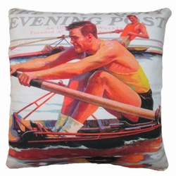Rower Outdoor Pillow