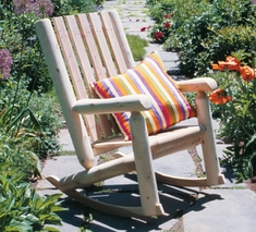 Rustic High Back Rocking Chair