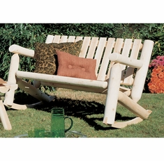 Rustic Log Double Rocker Settee