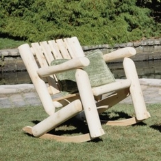 Rustic Low Back Rocker