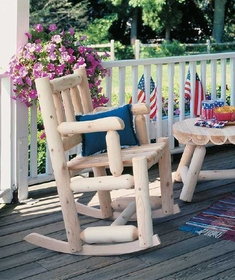 Rustic Porch Rocker