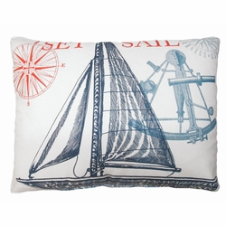 Sailboat Outdoor Pillow
