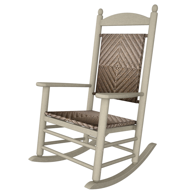polywood sand jefferson woven rocking chair, outdoor rocking chair