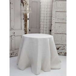Solid Ivory Jute Tablecloth