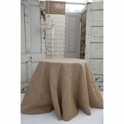 Solid Natural Jute Tablecloth
