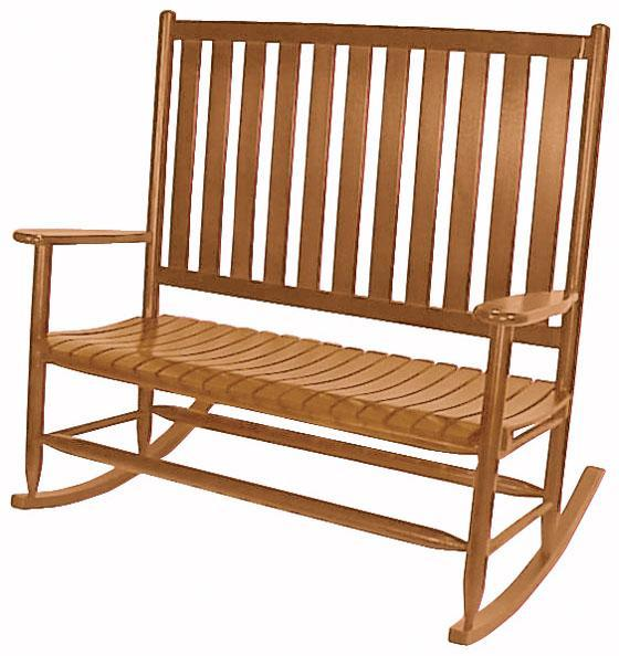 Double Rocking Chairs Wooden Custom Double Porch Rockers
