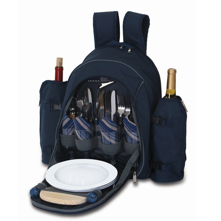 stratton picnic backpack  personalized picnic backpack  set for four  monogrammed