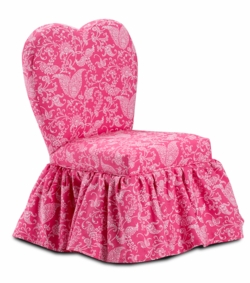 Sweetheart Chair in  Small Paisley Candy Pink