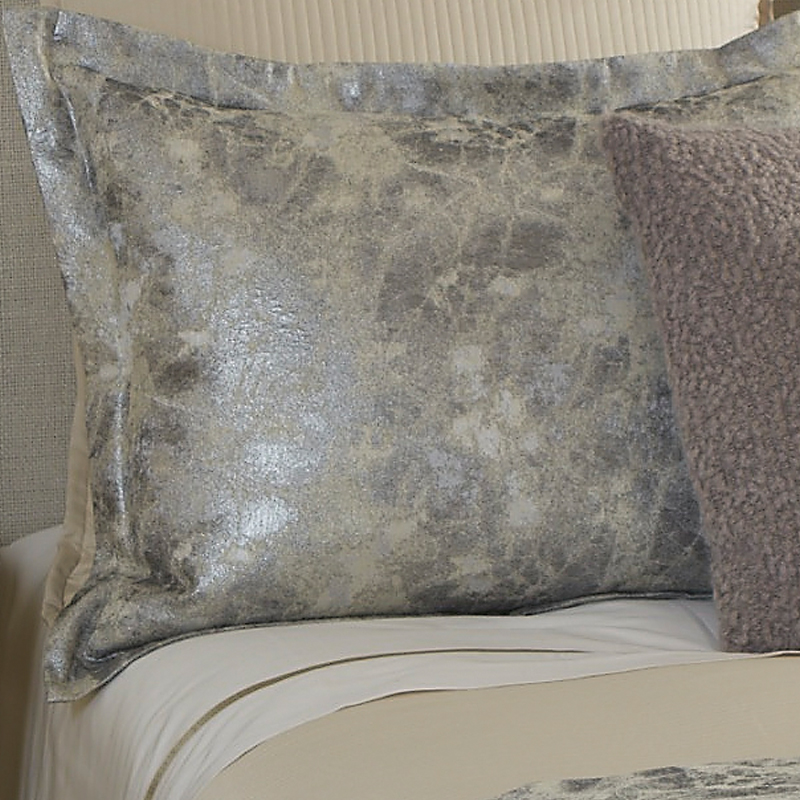 terrazzo duvet set in silver  ann gish  art of home  queen or king duvet sets