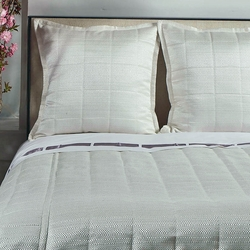 Texture Coverlet Set in White