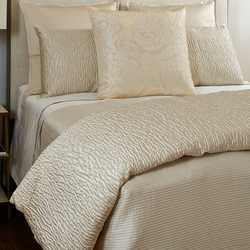 Linea Coverlet Set in Ivory