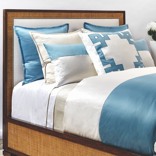 Motif Duvet Set In Aegean Blue And Ivory, Art Of Home Bedding By Ann Gish,  Luxury Duvet Set   Products On This Page Are Currently Unavailable