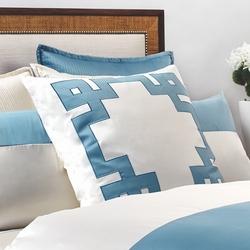 Motif Euro Sham in Aegean Blue and Ivory