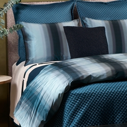 Single Diamond Coverlet Set in Teal